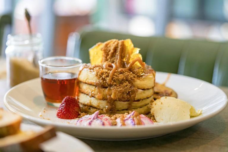 Flour Drum's banoffee buttermilk pancake stack always goes down well