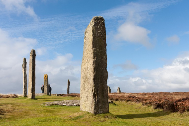 The Ring of Brodgar is a Neolithic henge and stone circle in Scotland