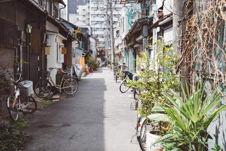 Nakazaki-cho street in Osaka, Japan
