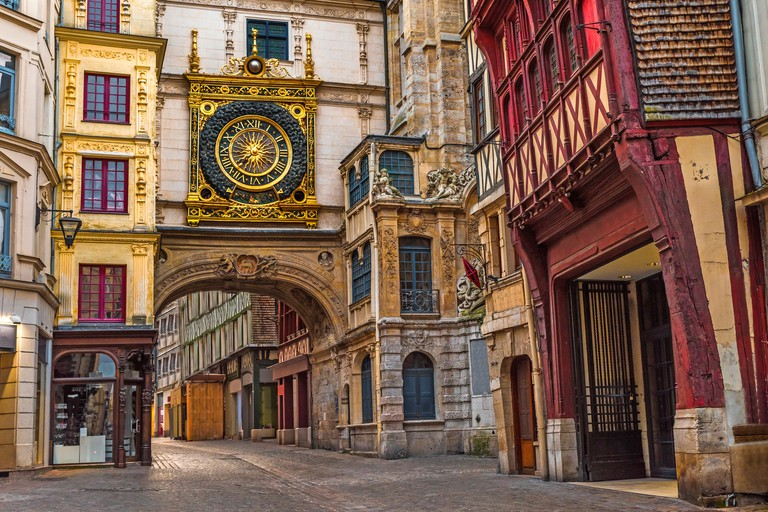 Check out the Gros Horloge, the city's emblematic clock