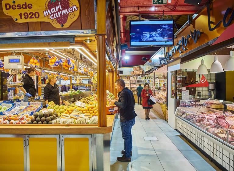 Mercado de La Paz Market. Madrid. Spain.