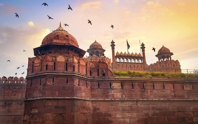 The Red Fort is a medieval Indian fort designated as a UNESCO World Heritage site