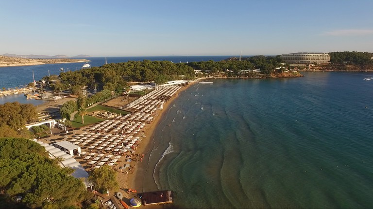 Astir Beach is accessible via public transport from central Athens