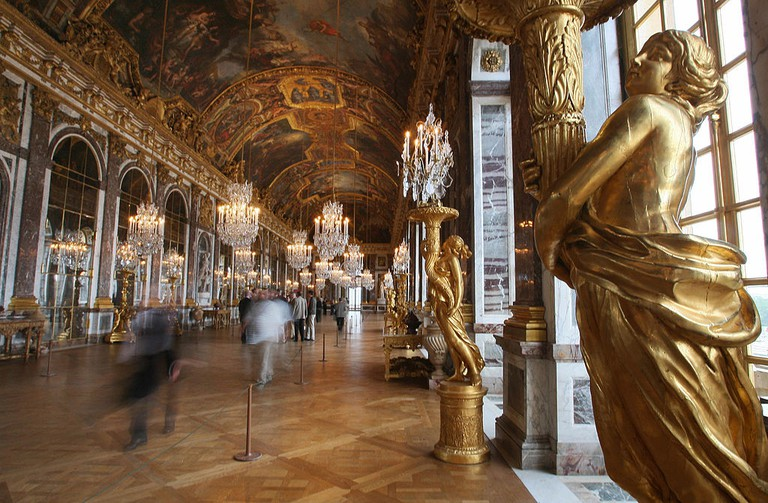 Hall of Mirrors painted by French artist Charles Le Brun.