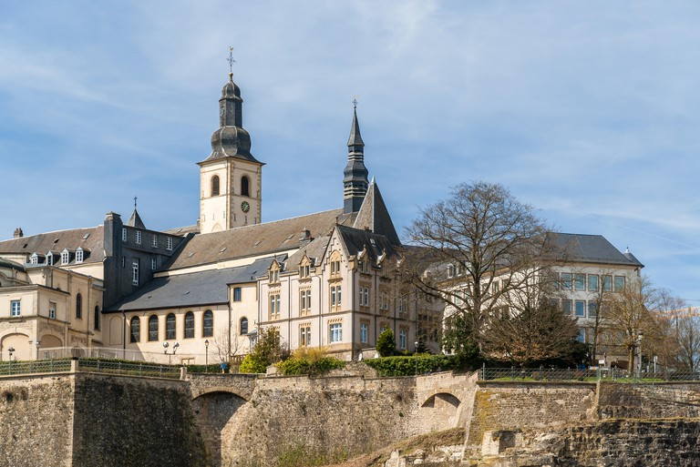 View of St Michael's Church in Luxembourg city