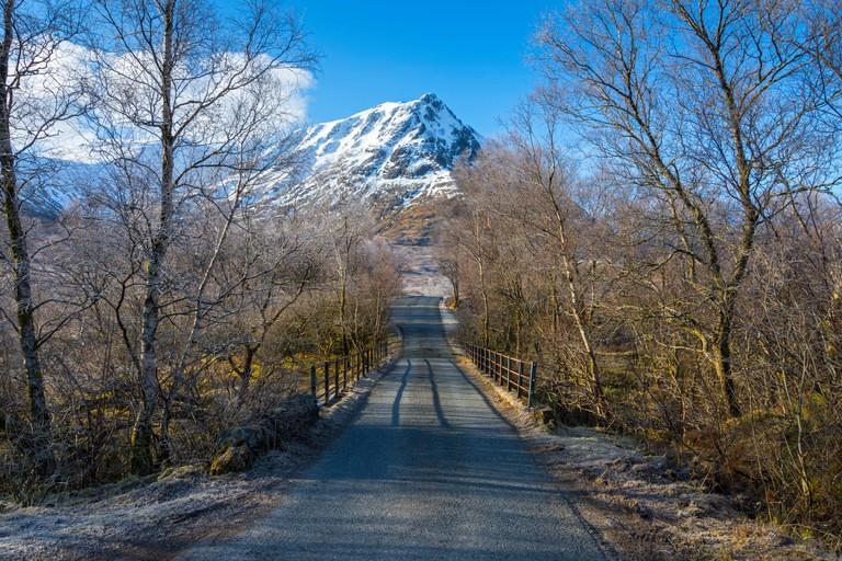 Sron na Creise from the Glen Etive road, Rannoch Moor, Scotland.