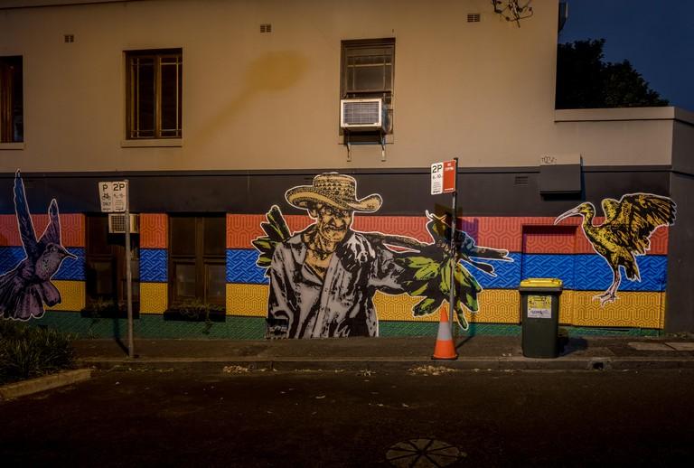 Street art at night