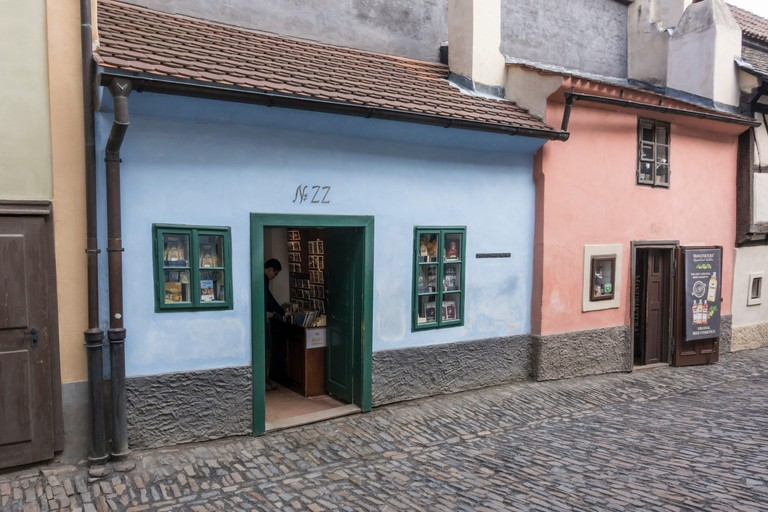 The house where Franz Kafka lived is in the Josefov area of the Old Town which was the former Jewish Ghetto