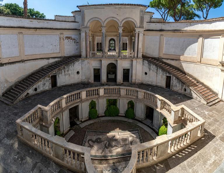 Villa Giulia outdoor etruscan Style in Rome Italy