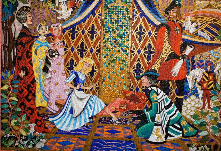 Cinderella mosaic in Tokyo Disneyland