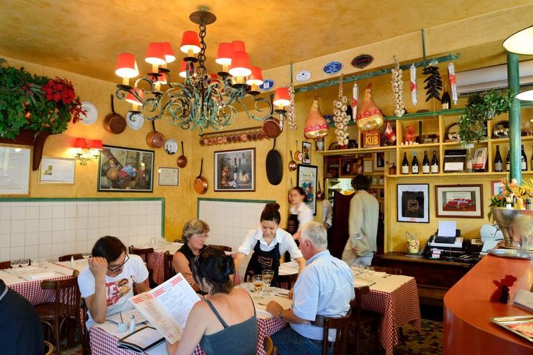 France Rhone Lyon Restaurant bouchon lyonnais Daniel et Denise from the chef Joseph Viola Meilleur Ouvrier de France (France?s