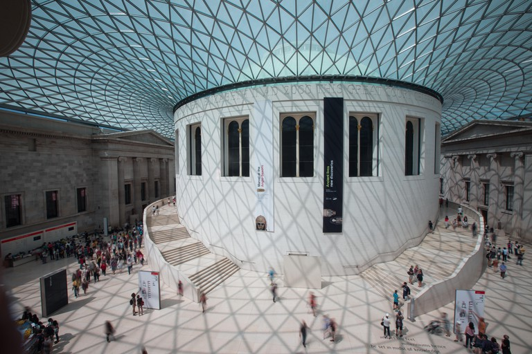 The Great Court at the British Museum-The largest covered courtyard  in Europe