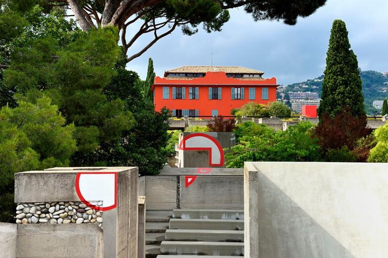 France, Alpes Maritimes, Nice, Saint Bartholomew hill, Villa Arson, Centre National d'Art Contemporain, which opened in 1972, architect Michael Marot
