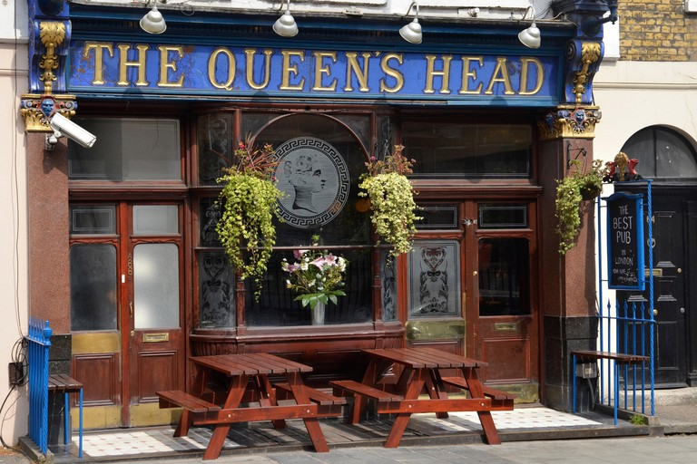 The Queens Head public house in Acton Street, Kings Cross, London