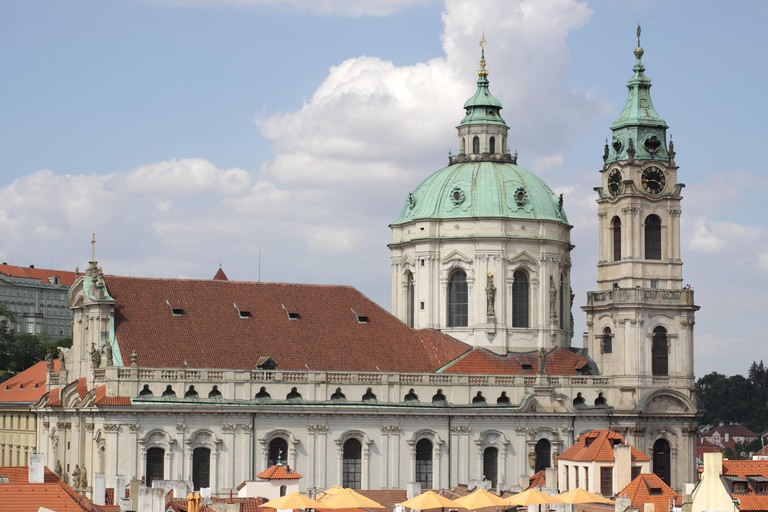 The Church of St Nicholas, the most famous Baroque church in Prague