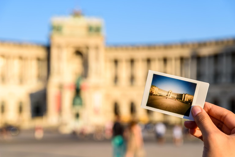 Instant Photo Of Hofburg Palace In Vienna