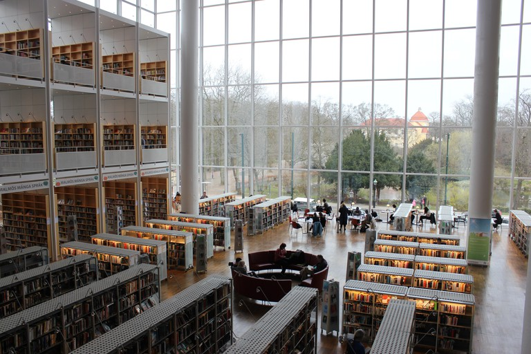 The city library, Malmo Stadsbibliotek in Malmo, Sweden. Image shot 2016. Exact date unknown.