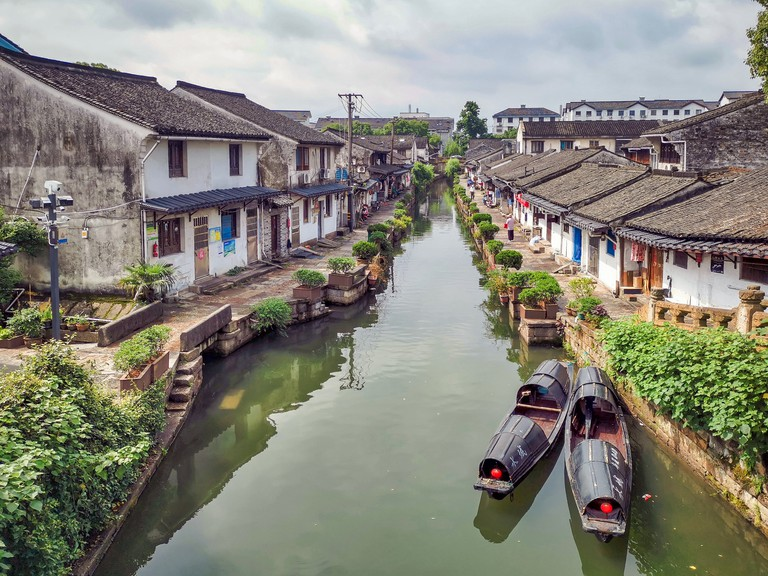 Historical village of Guangning bridge, Shaoxing city