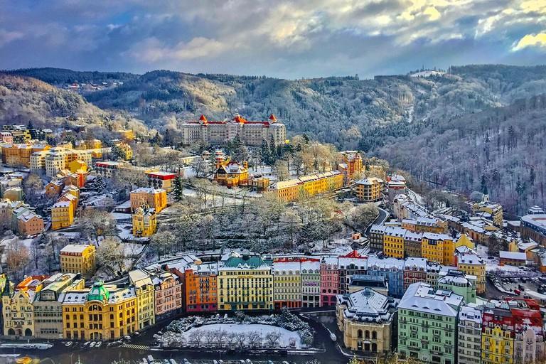 Panorama of Karlovy Vary, Czech Republic