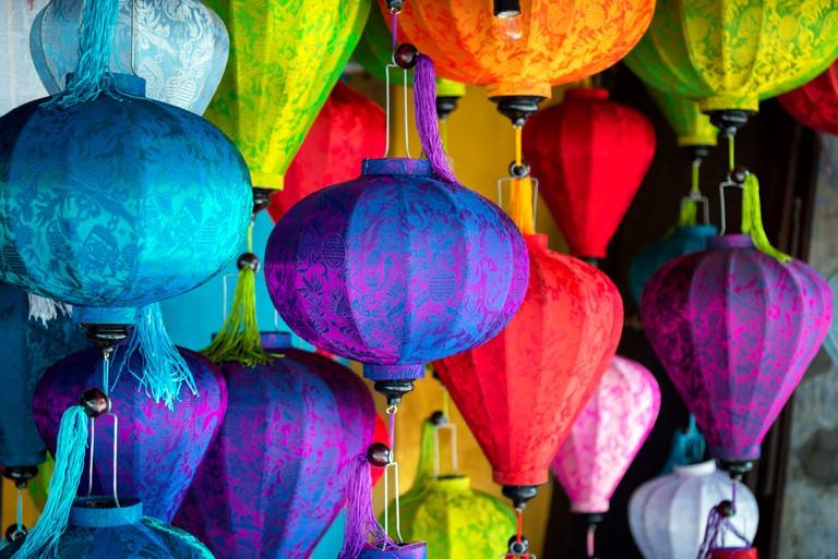 Silk Lanterns in Asia