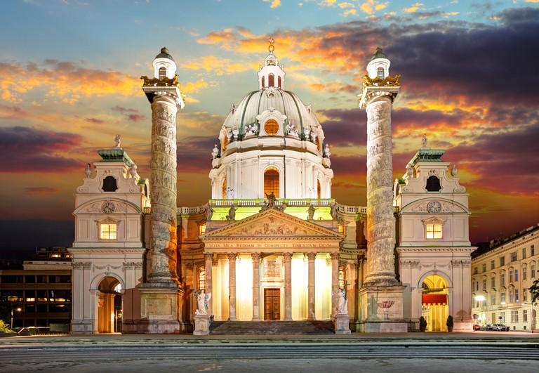 Vienna, Karlsplatz - St. Charles's Church