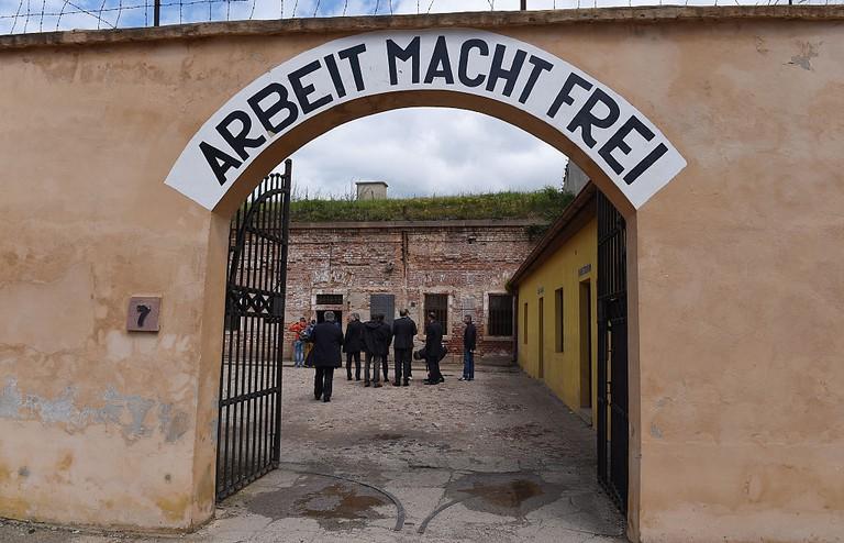 DFB Delegation Visits Terezin Concentration Camp Memorial