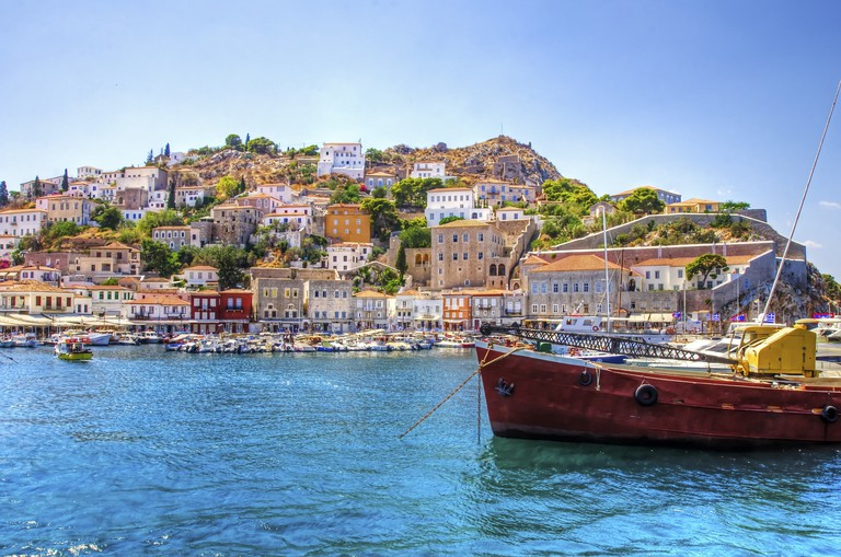 A view of the beautiful Greek island, Hydra