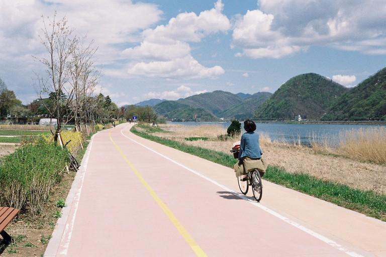 Han River Walking and Bicycle trails, Gyeonggi Province Korea