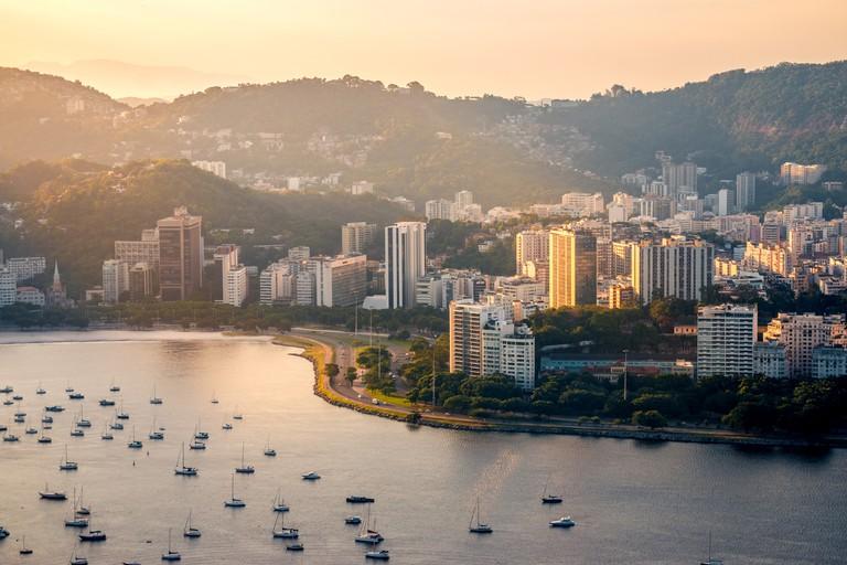 Botafogo beach view from Sugarloaf, Rio de Janeiro