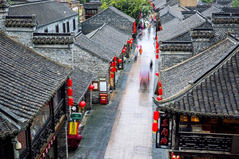 Scenic View Of DongGuan Street in Yangzhou
