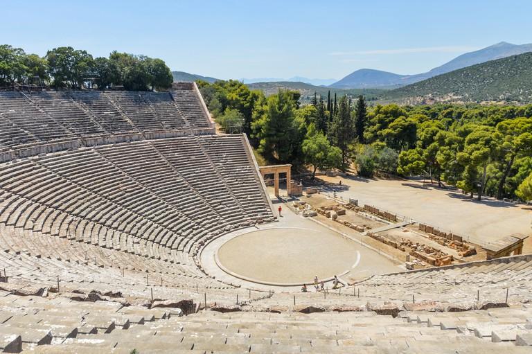 Ancient Theater of Epidaurus in Greece