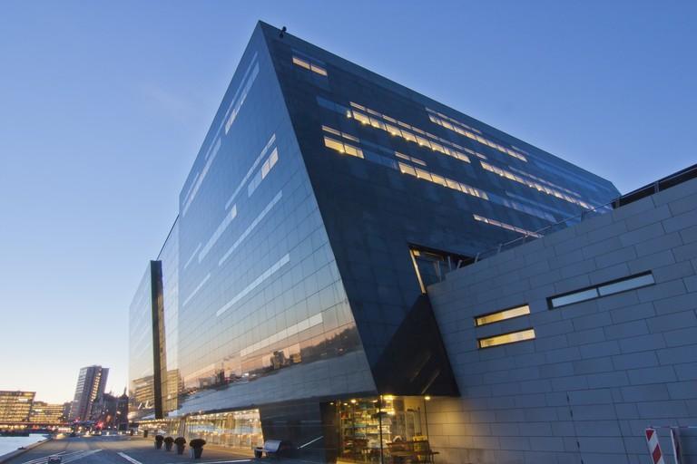 Sunrise of Royal Library in Copenhagen, Denmark (Black diamond)