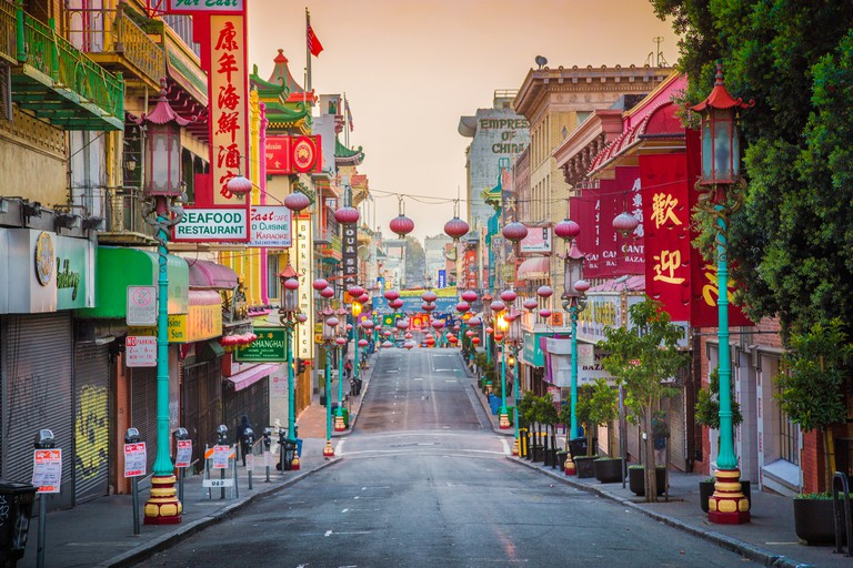 San Francisco's Chinatown at sunrise, California, USA