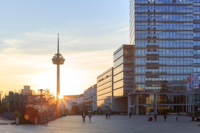 Colonius Tower and MediaPark, Cologne, Germany