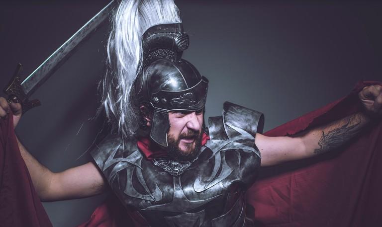 Roman gladiator, wrestler and warrior of Rome