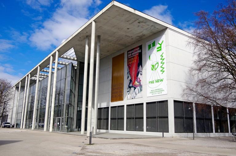 The Pinakothek der Moderne Munich, a modern a modern art museum,  in Munich?s Kunstareal, museum quarter