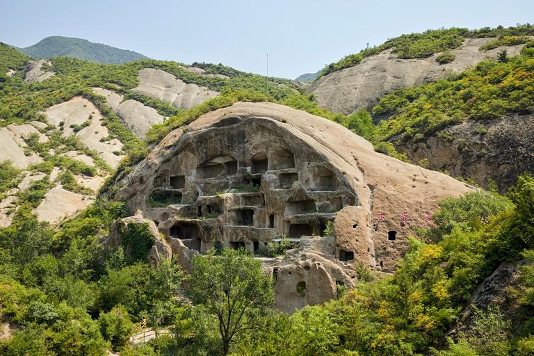 Guyaju cave dwelling Guyaju caves Ancient cave dwellings  Ancient Cliff Dwellings in Yanqing, China, Asia