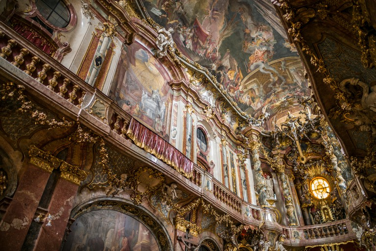 Germany, Bavaria, Munich. Asam Church, Baroque church built in the mid-18th century by the Asam brothers