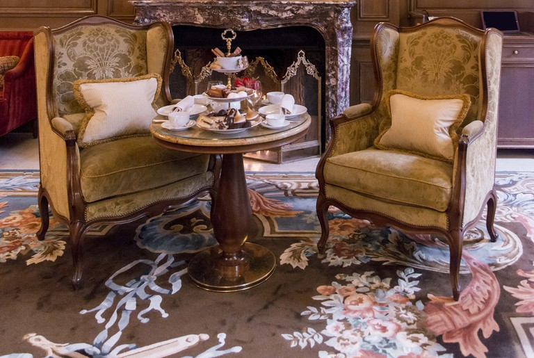 Afternoon tea in the Salon Proust at the Ritz.