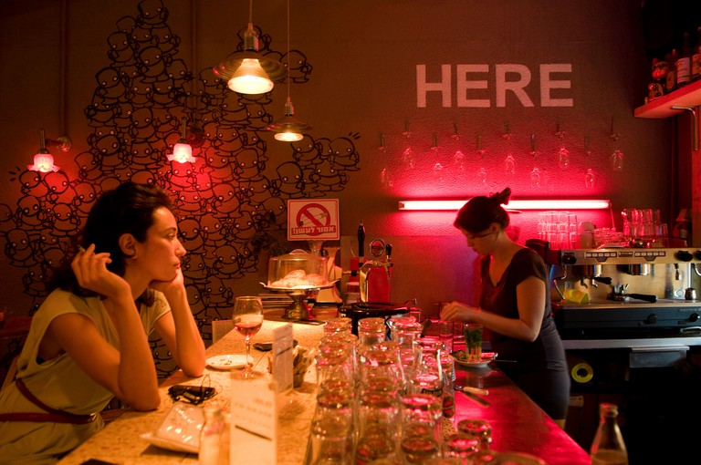 """Florentin a hip, """"cool"""" neighborhood in the southern part of Tel Aviv"""