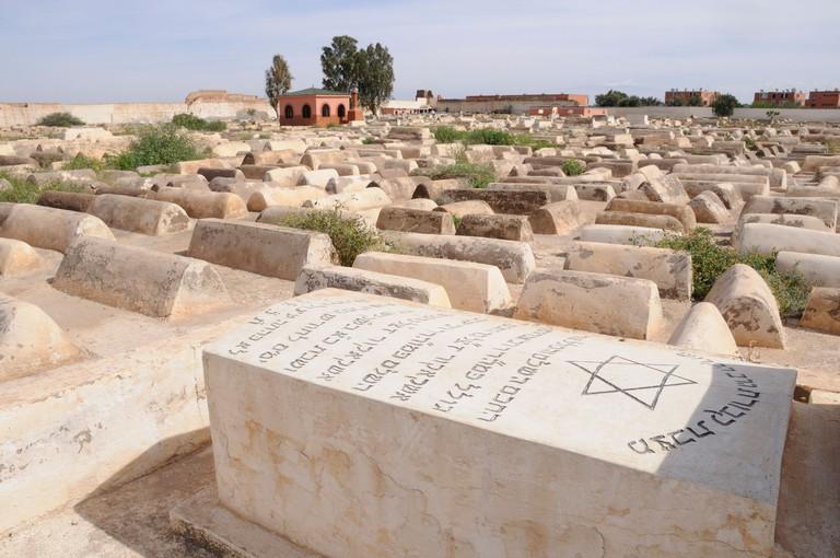 Graves in Miarra (Jewish Cemetery ) in the Jewish Quarter, Mellah