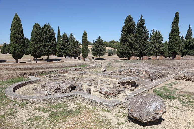 Ruins of Roman City Italica, Andalusia, Spain.