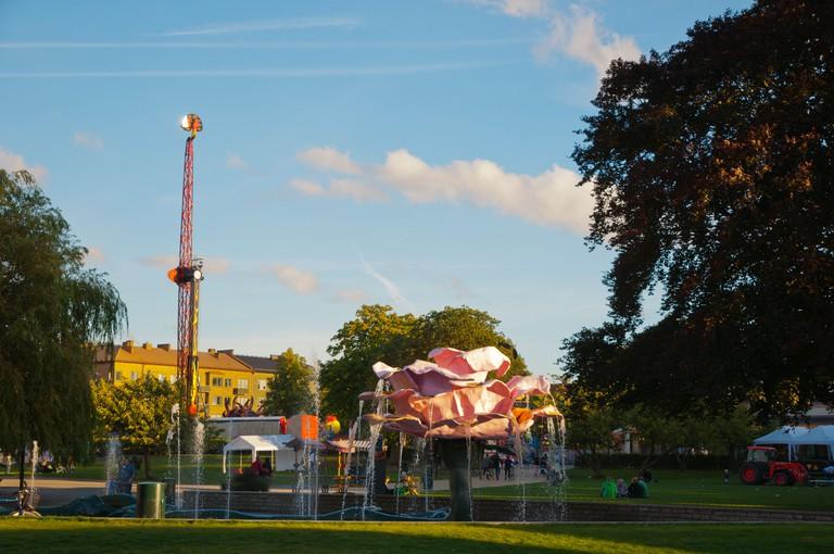 Folkets park amusement theme park Malmo city Skane county Sweden Europe