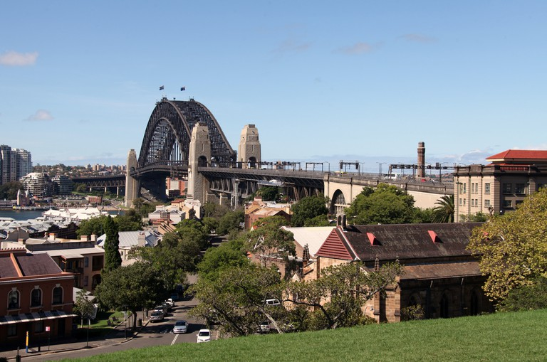 Sydney Harbour Bridge from Observatory Hill Park