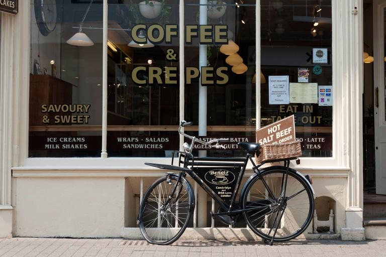 Benets Coffee and Crepes cafe restaurant Bene't Street Cambridge UK