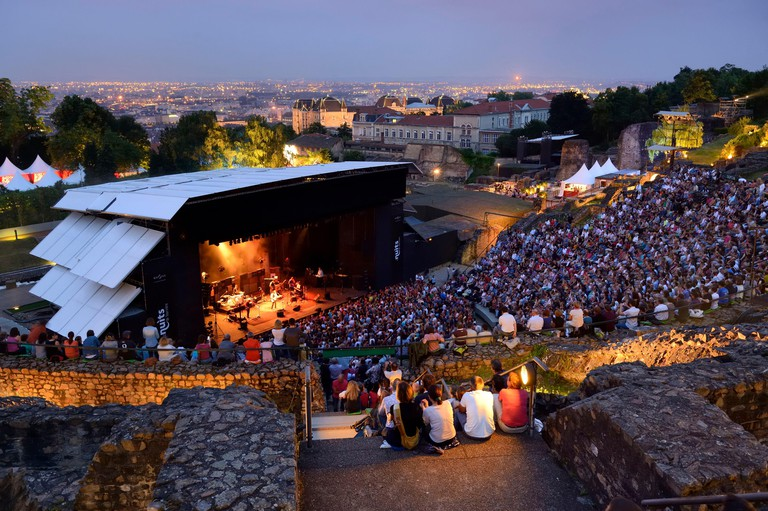 Nuits de Fourviere taking place in an amphitheatre on top of Fourviere hill