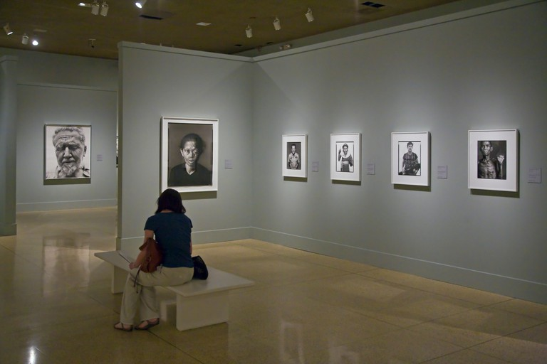 RICHARD AVEDON photographs on display in the SAN DIEGO MUSEUM OF ART is located in BALBOA PARK - SAN DIEGO, CALIFORNIA