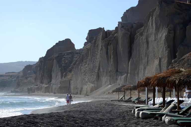 Eros beach, Akrotiri, Santorini, Greece