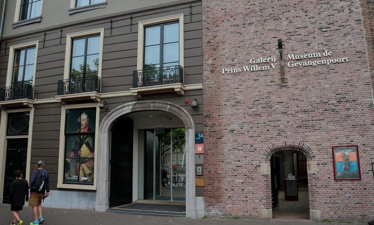 Entrance to the Museum de Gevangenpoort in The Hague, Netherlands.