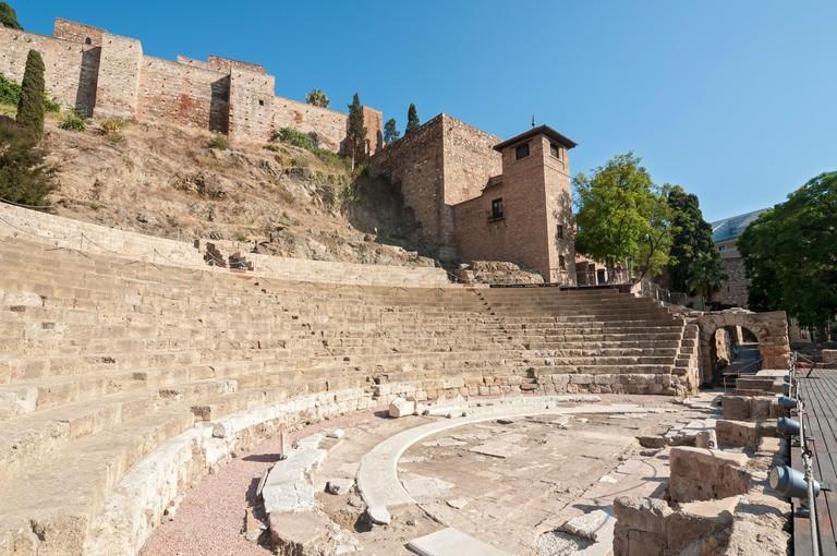 Roman Theatre, Malaga, Andalusia, Spain